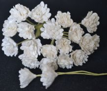OFF WHITE GYPSOPHILA / FORGET ME NOT Mulberry Paper Flowers